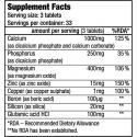 BiotechUSA Calcium Zinc Magnesium (100ct) supplement facts