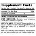 Universal Creatine (500g) supplement facts