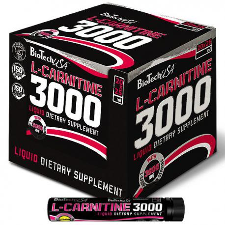 BioTechUSA L-Carnitine 3000mg (20 ampoules)