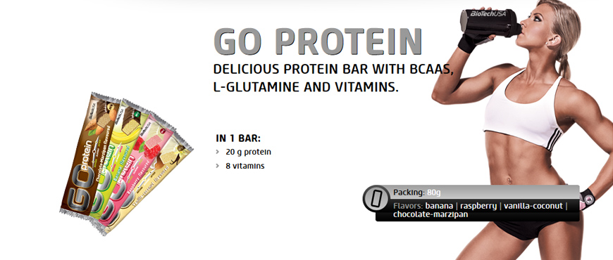 BioTechUSA Go Protein Bars 80g