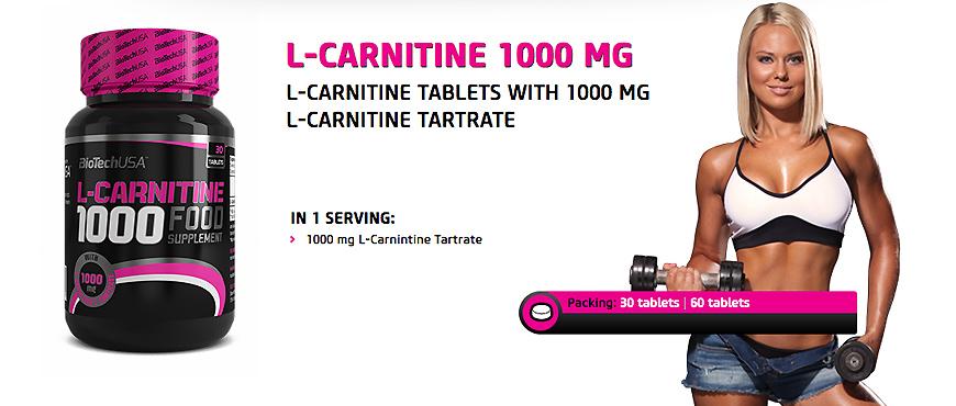 BioTechUSA L-Carnitine 1000mg