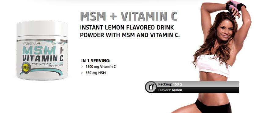 BioTechUSA MSM + Vitamin C
