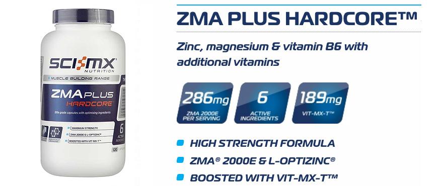 Sci-Mx ZMA Plus Hardcore