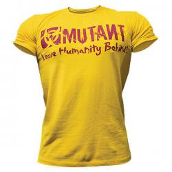Mutant Leave Humanity Behind T-Shirt (Yellow)